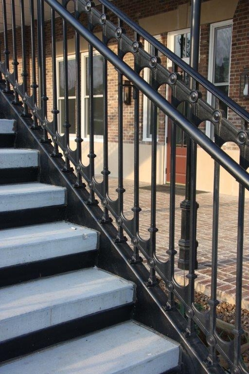 Elegant Traditional Cast Iron Stair And Balcony Railings | Heritage Stair And Railing | Stainless Steel | Balcony Railing Design | Indoor Stair | Interior Stair | London Ontario