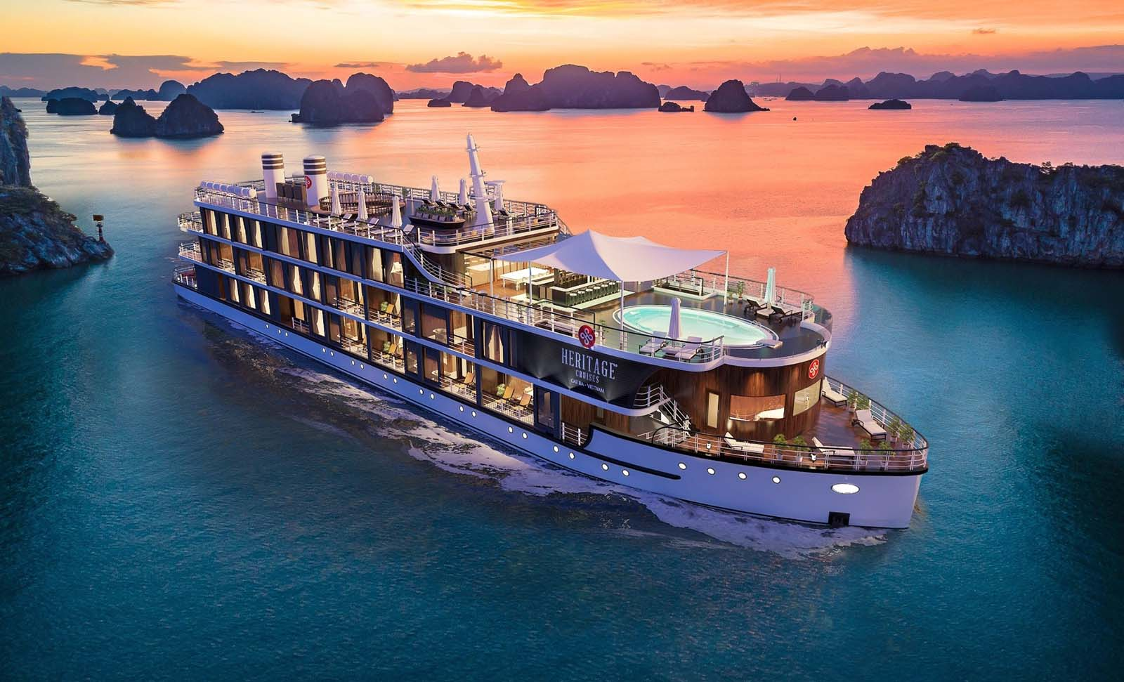 Heritage Cruises is always present to escort guests for discovering every corner of Lan Ha Bay and Cat Ba Island