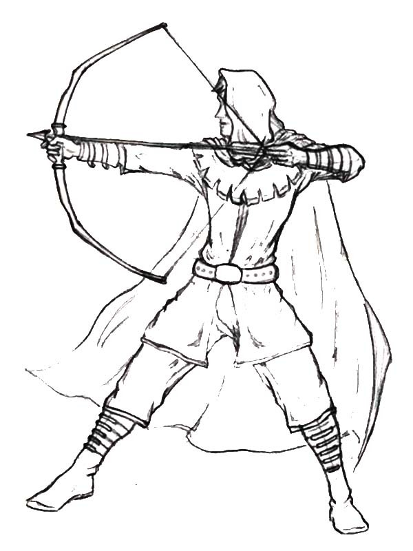 robin hood coloring pages # 3