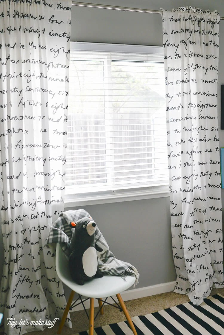 easy-sew curtains hung from window