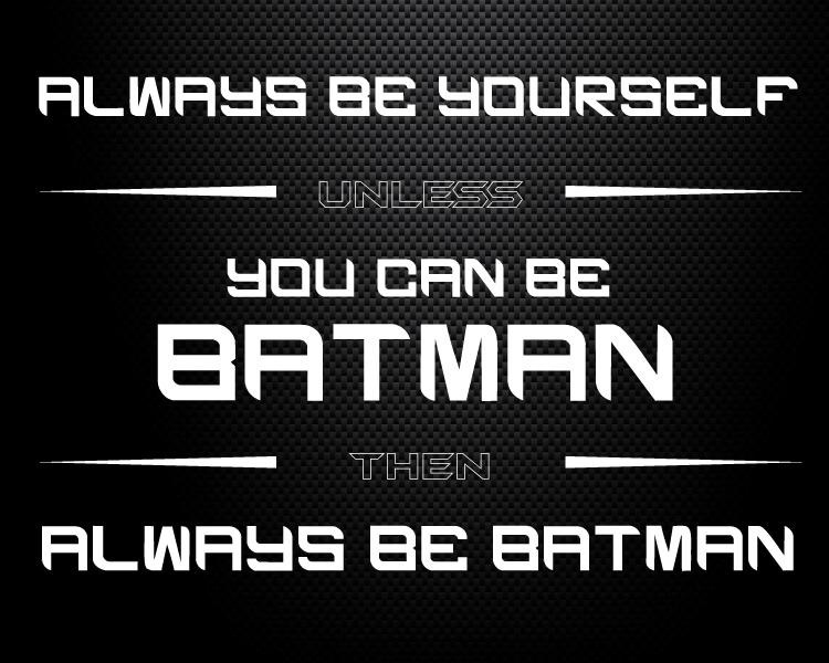 black batman printable