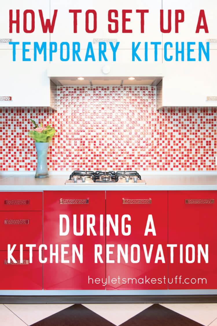 Set up a temporary kitchen pin image