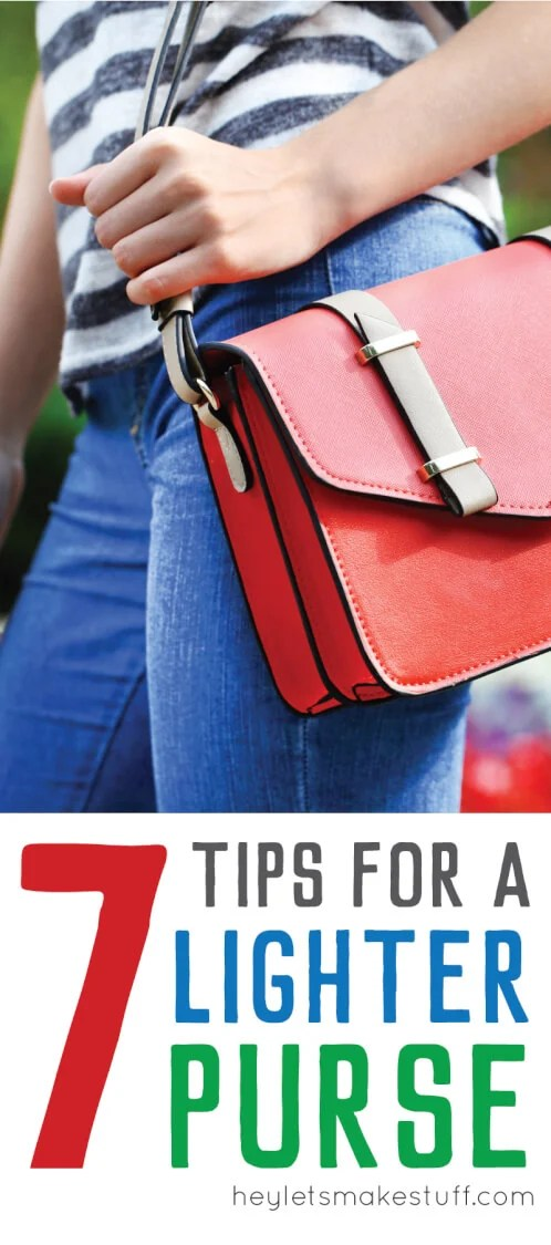 side view of woman holding red purse pin image