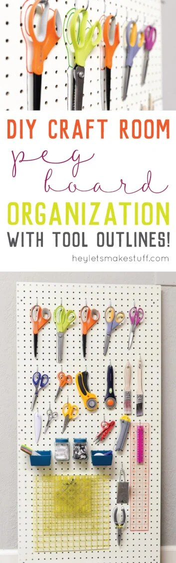 craft room peg board organization pin image