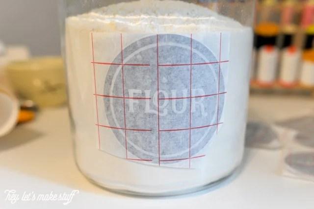 process of applying pantry label