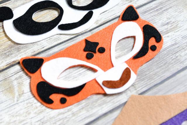 assembled Kung Fu DIY panda mask - tiger