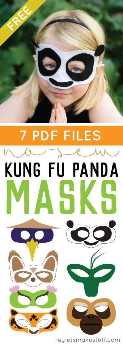 DIY Kung Fu panda mask pin collage