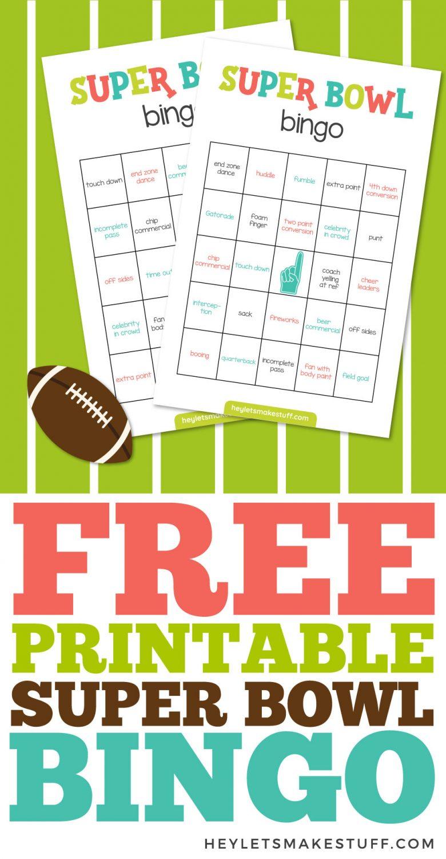Free Printable Super Bowl Bingo Pin
