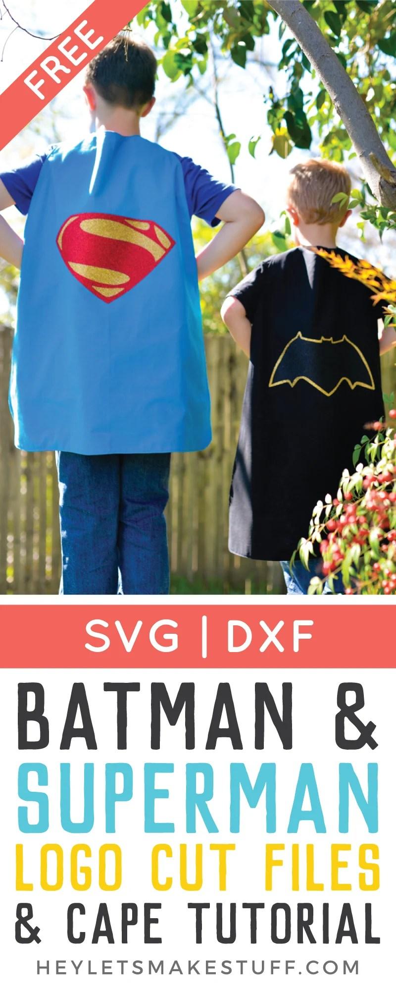 Batman and Superman DIY cape