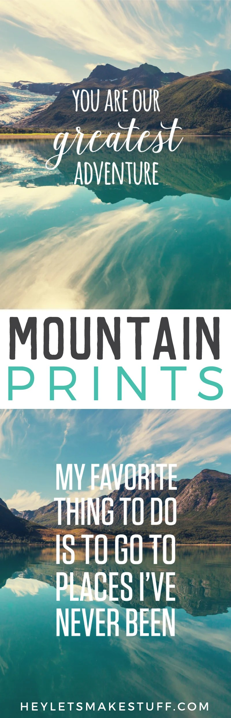Mountain Adventure prints, perfect for a nursery or kid's room pin image