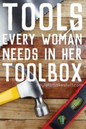 Here are my top ten tools every woman should have in her toolbox, plus a few more that I particularly love and use all the time!