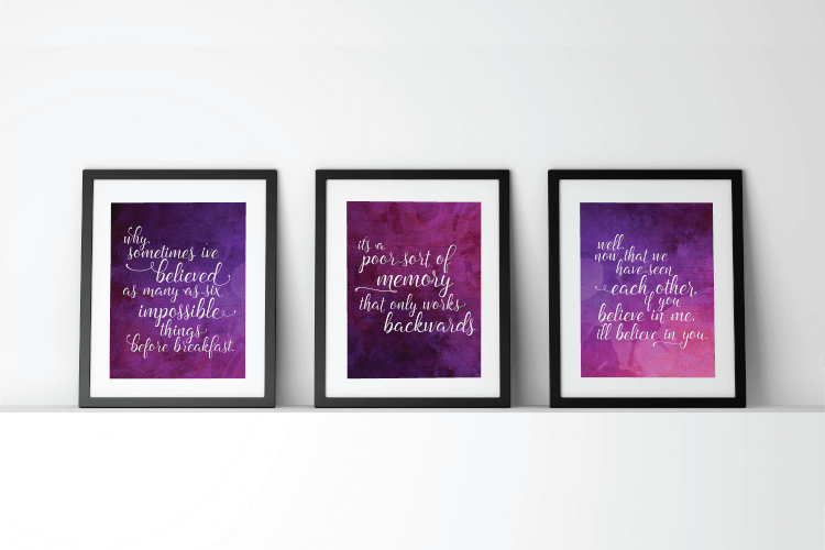 """Download these printable """"Alice Through the Looking Glass"""" quotes"""