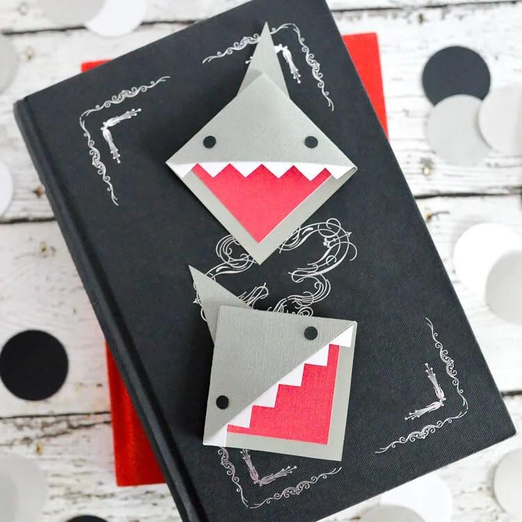 DIY Shark Bookmarks