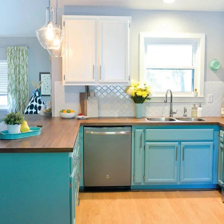 updated 1980s kitchen