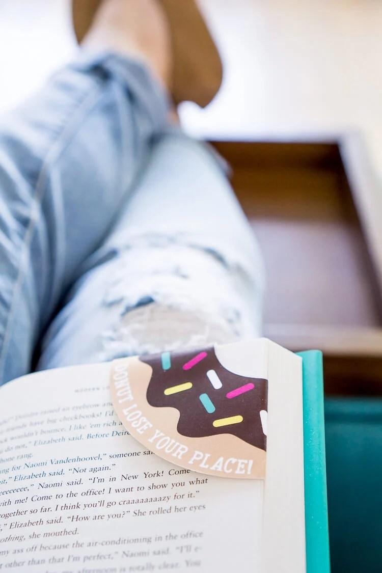 fun printable donut bookmarks