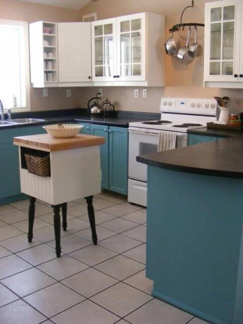 teal kitchen inspiration