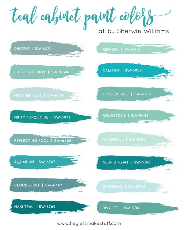 teal-cabinet-paint-colors-swatches
