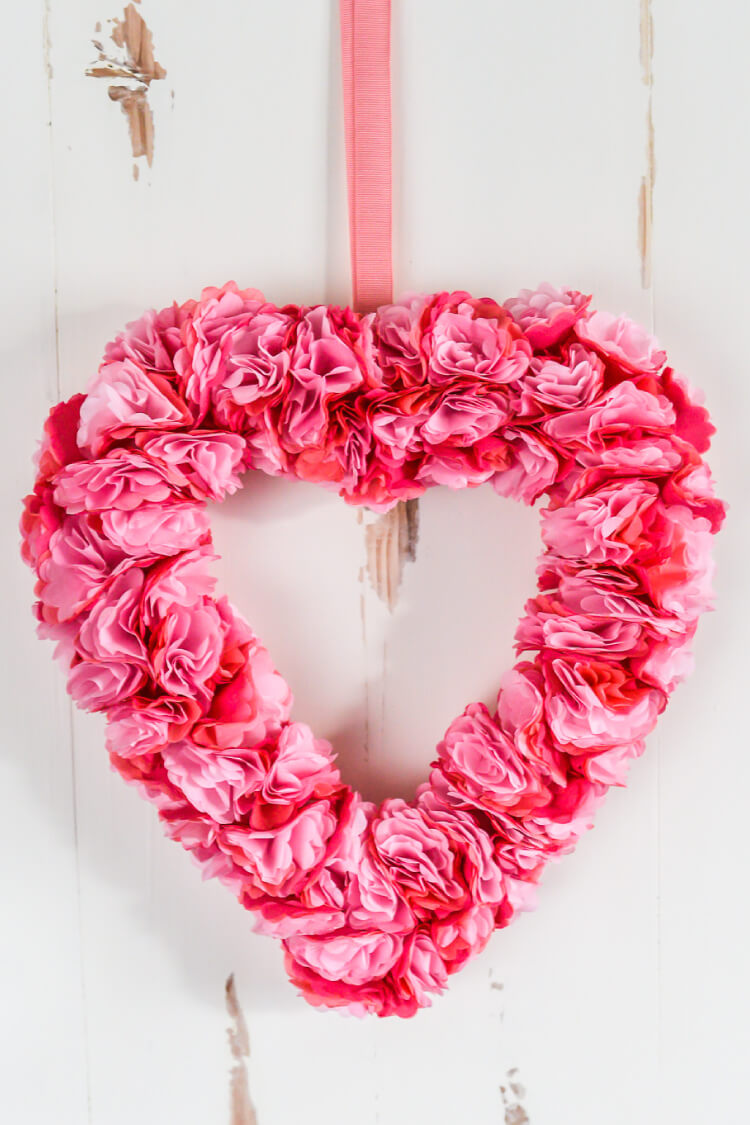 How to Make Tissue Paper Flowers Four Ways   Hey  Let s Make Stuff This beautiful tissue paper Valentine s Day wreath is deceptively simple to  make  This easy paper