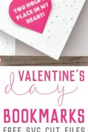 These Valentine's Day Bookmarks are perfect for your favorite bookworm. Tell them how much you care with this adorable heart corner bookmark, cut on your Cricut Explore!