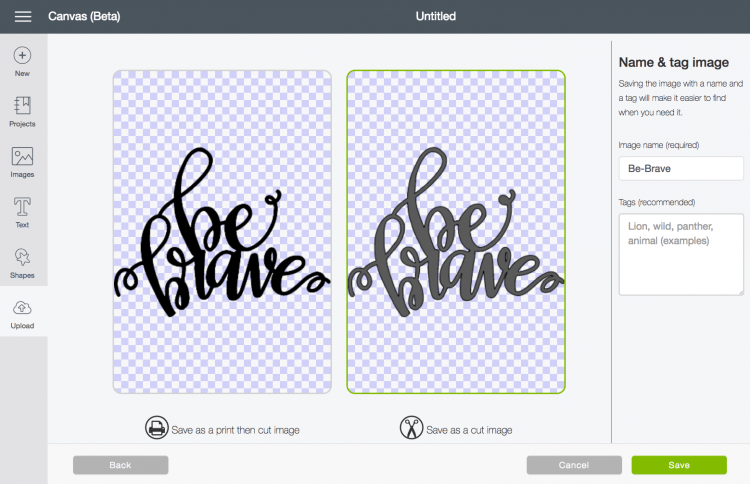 Choose to make your file a cut file - These are great tips and tricks for using the Cricut Design Space or Illustrator to convert your doodles, writing, and other hand-drawn images into an SVG that you can cut on the Cricut Explore!