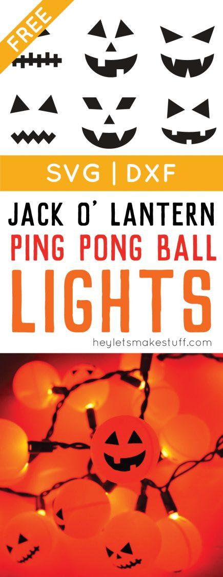 Orange ping pong balls plus fairy lights equal a fun Halloween Jack O' Lantern decoration pin image