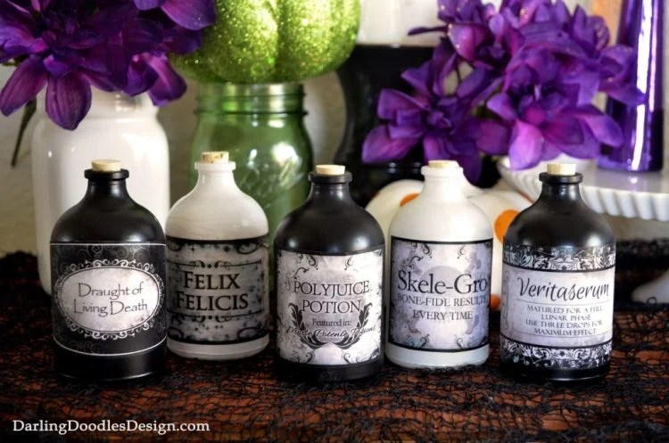 Harry Potter printable potion labels