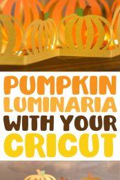 Pumpkin Luminaria with your Cricut pin image