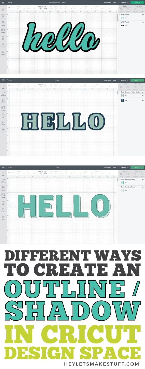 Creating an Outline in Cricut Design Space pin image