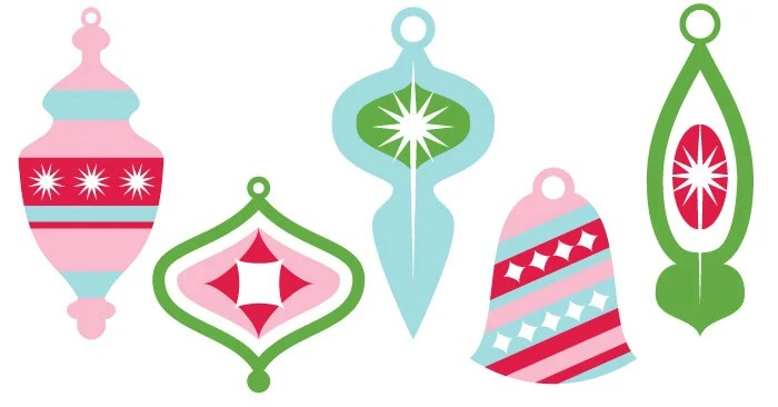This vintage Christmas ornament clip art is perfect for all of your projects! Use them on Christmas cards, gift tags, holiday party invites, and more!