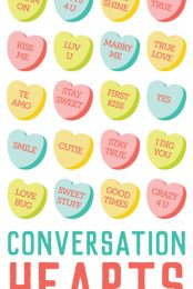 These delicious conversations hearts clip art and cut files are a yummy addition to all of your Valentine's Day projects and decor! Add to Valentine's invitations or cut a big conversation heart in vinyl for a t-shirt or tote bag. 49 different conversation hearts to choose from!