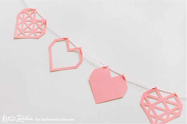 valentine's svg files - heart banner