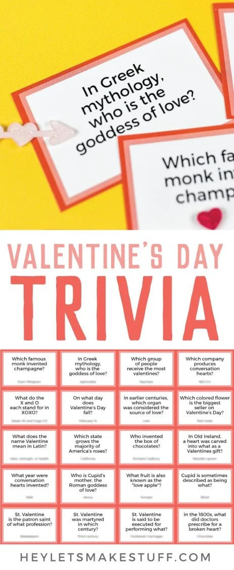 Valentine's day trivia pin