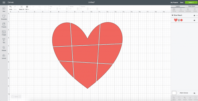 All lines sliced out of the heart