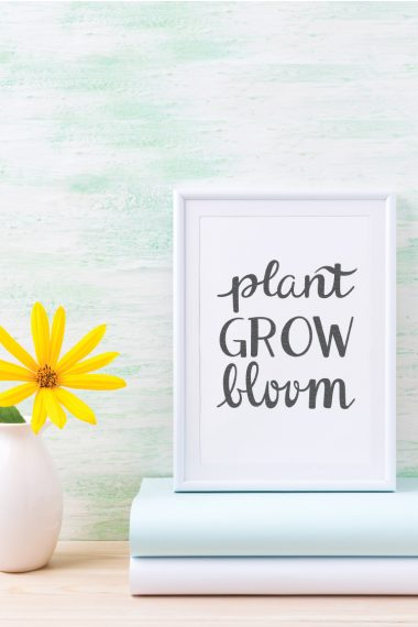 Have this beautiful reminder of your garden and your soul wherever you are with this hand-lettered Plant Grow Bloom SVG cut file. This is a beautiful cut file for spring and summer, in particular!
