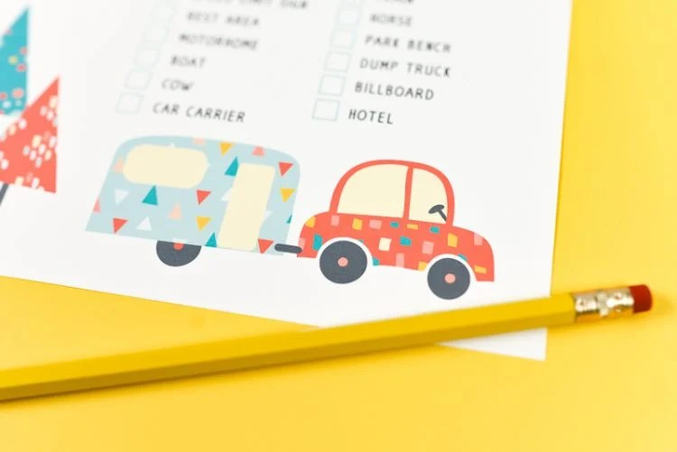 free printable road trip scavenger hunt