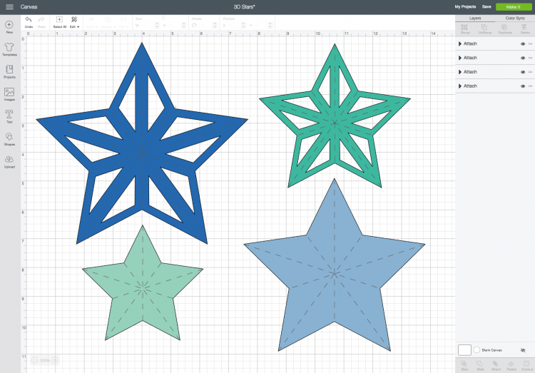 3D Stars on the DS Canvas`