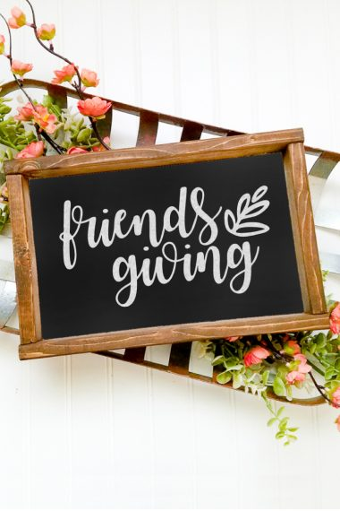 Friendsgiving is the perfect opportunity to gather with our best friends, eat a delicious meal, and be grateful for the friendships in our lives. Get this free Friendsgiving SVG, great for invitations, gift tags, signs, and more.