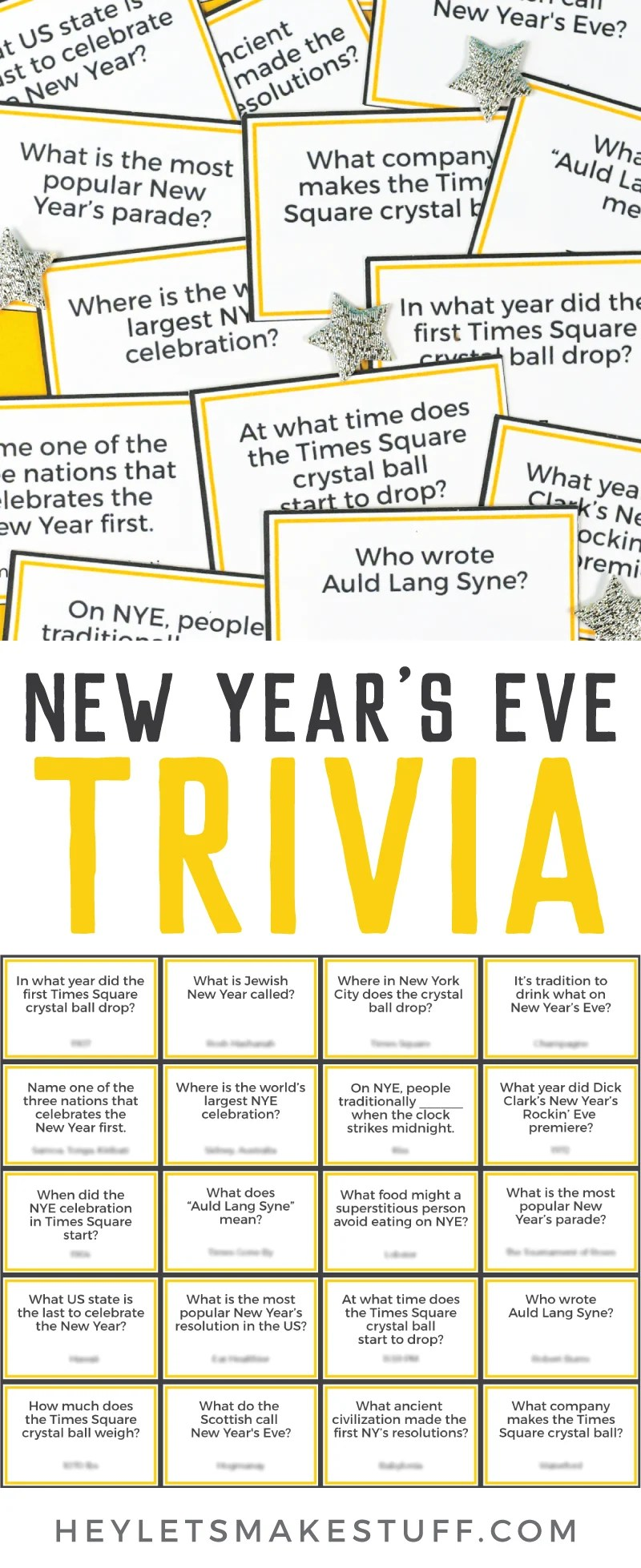 New Year's Eve Trivia pin image