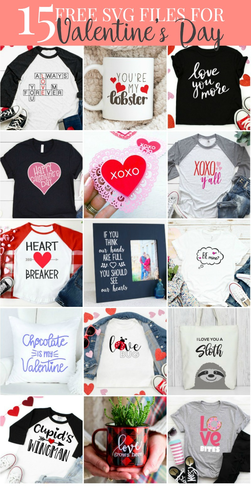 Get 15+ Valentine's Day SVG files for free!