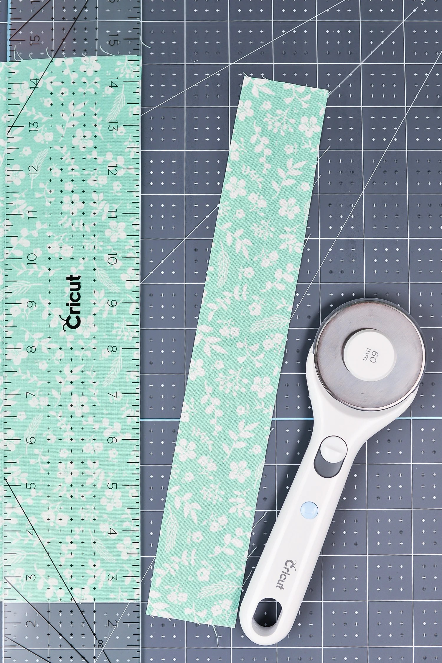 Cricut Hand Tools: The Rotary Cutter and Acrylic Ruler with Cutting Mat