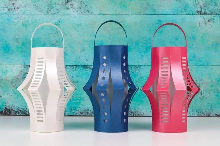 DIY patriotic lanterns