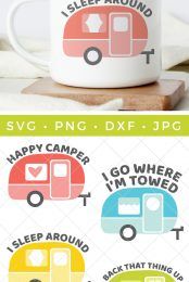 It's time to get your camp on! This Vintage Camper SVG Bundle is full of sassy camper 'tude. Hitch up the trailer, the open road is waiting for you.