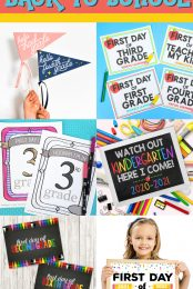 Pin image for back to school signs