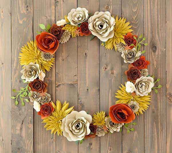 paper fall wreath