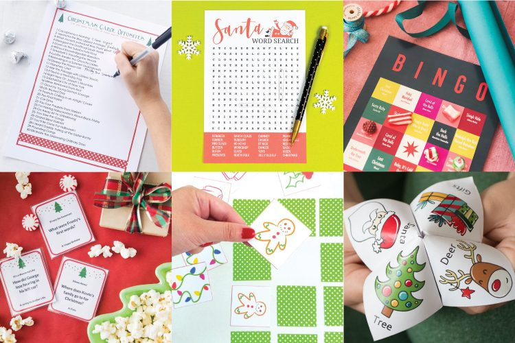 Spread the Christmas joy with some friendly competition! Check out these free printable Christmas games that will put everyone in the holiday spirit while they wait for Santa to show up!