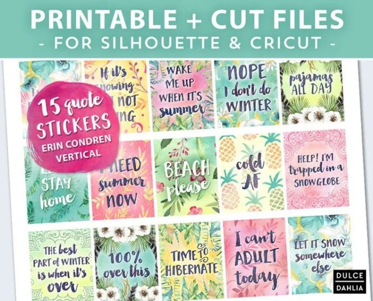 Dulce Dahlia Planners - Quote Stickers