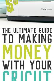 """If you've ever wondered, """"can I make money with my Cricut?"""" the answer is yes! Learn everything you need to know about starting a business selling the crafts you make with your Cricut Explore or Maker."""