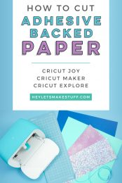 No glue is necessary with Cricut's Adhesive Backed Paper! Here's how to cut Adhesive Backed Paper using your Cricut Joy, Maker, or Explore!