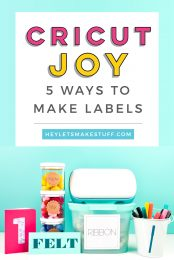 Want to organize everything in your house? Cricut Joy is the answer! This tiny cutting machine can make all sorts of labels. Here are five mini Cricut Joy label tutorials that will help get you organized.