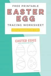 Grab this free egg tracing worksheet for a fun indoor coloring activity for the kids. It's great for practicing tracing skills, shapes, pencil grip, and coloring!